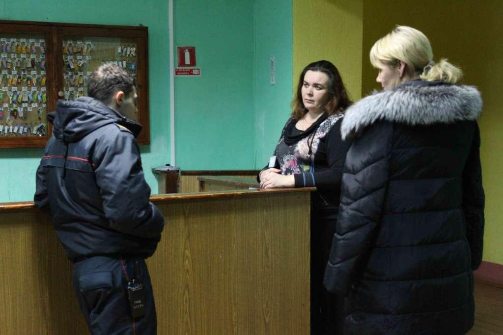 Посещение общежития представителем Гомельского РОВД